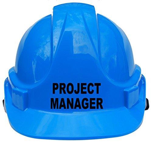 """Kinderhelm """"Project Manager"""", Schutzhelm mit Kinnriemen, eine Größe verstellbar, geeignet von 4–12Jahren, entspricht Sicherheitsstandard EN397, blau"""