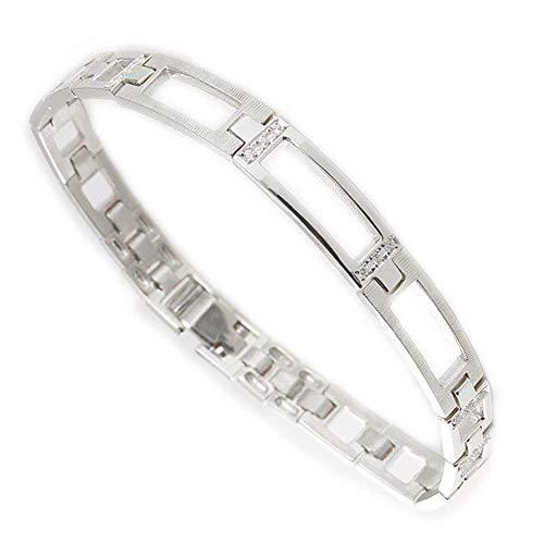 [アトラス] Atrus ブレスレット メンズ 18金 ホワイトゴールドk18 ダイヤモンド 幅広 地金 バングル コントラッド 東京