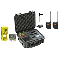 Sennheiser ew 100-ENG G3-A Wireless Mic System with EK 100 G3 Diversity Receiverwith 4x AA Rechargeable Batt w/C harger, SKB iSeries Sennheiser Mic Case Bundle
