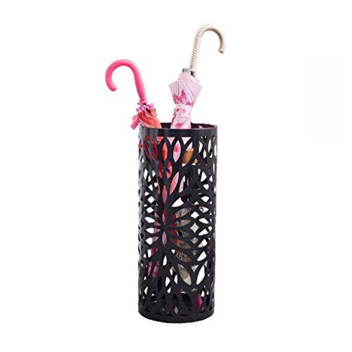 Cheng-paragüero Paraguas Creativo Soporte para sombrilla Soporte para sombrilla Soporte de Hierro Forjado Hueco Negro Lluvia Cubo de Almacenamiento en Rack