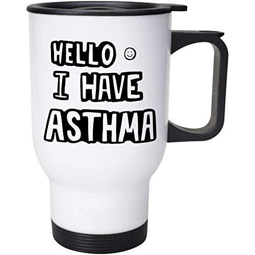 400ml 'Hello I Have Asthma' Wiederverwendbarer Kaffee / Reise-Becher (MG00026747)