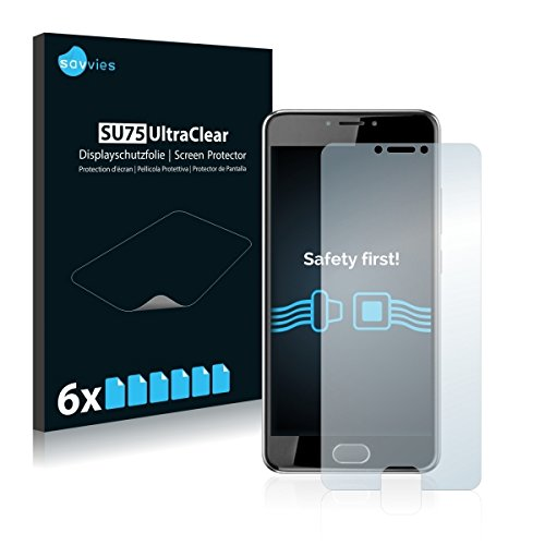 6X Savvies SU75 UltraClear Bildschirmschutz Schutzfolie für Acer Liquid Z6 Plus (ultraklar, mühelosanzubringen)