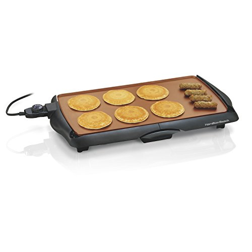 Best Deals! Hamilton Beach 38518R Durathon Ceramic Griddle, 200 sq. in, Black