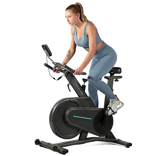 OVICX Magnetic Stationary Bike with Adjustable Professional Handlebar Belt Drive Indoor Cycling Workout Bike for home Gym