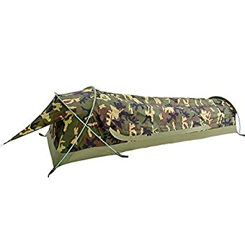 Ultralight 1-Person Waterproof BIVY Tent for Camping Hiking Hunting - Quick Easy Set Up  Camouflage
