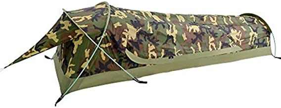 GEERTOP Ultralight 1 Person Bivy Tent for Camp Waterproof Single Man Tent for Camping Hiking Backpacking Hunting Outdoor Survival Gear - Easy Set Up