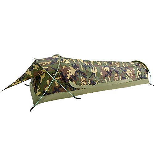 GEERTOP Bivy Tent Hiedra 2, Unisex Adulto, Camouflage, for 1 Person