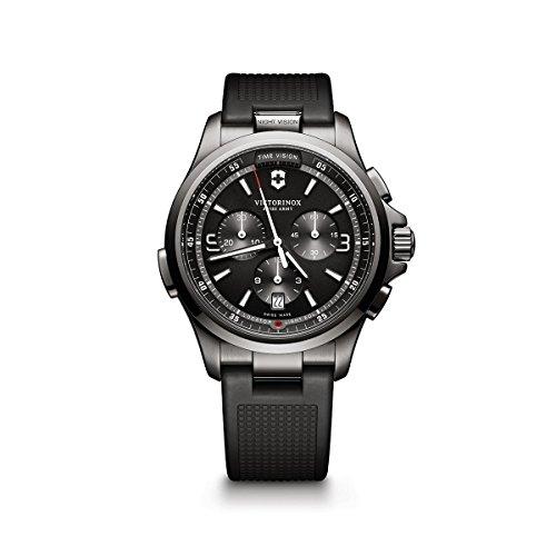 Victorinox 241731 - Reloj de Pulsera Hombre, Caucho, Color Negro