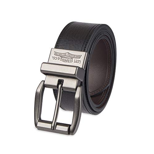 Levi's Men's Black To Brown Laminate Reversible Leather Belt,Black/Brown,40