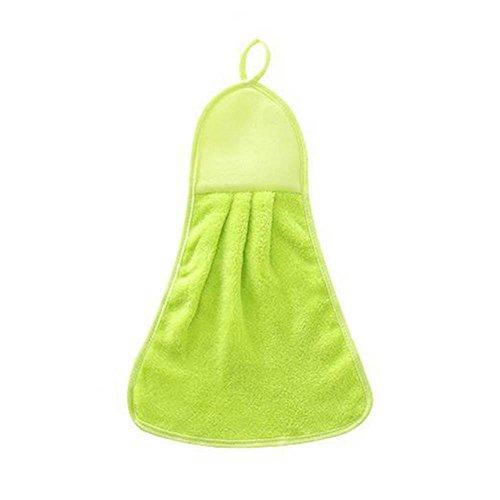 DEWIN Toalla de Mano, paño Grueso y Suave Coralino Que cuelga el Limpiador seco de la Toalla para el Plumero de la Cocina del baño de la Oficina en el hogar(Verde)