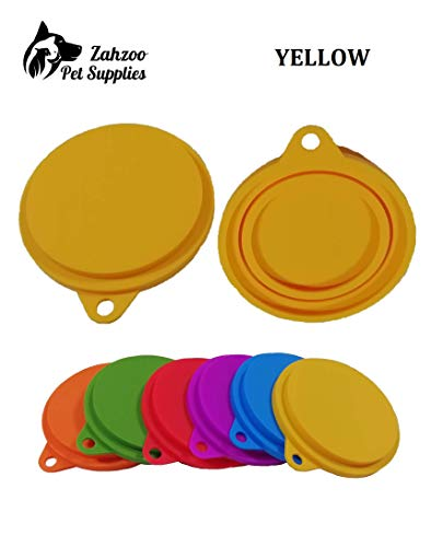Great Features Of 2 Pack Universal Re-useable Silicone Can Lids for Pet and Human Food Cans/Can Cove...