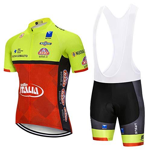 ZHLCYCL Traje Ciclismo Hombre, Maillot Ciclismo y Culotte Ciclismo con 5D Gel...