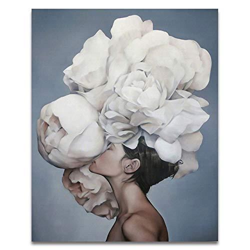 Digital Diy Gemälde von Blumen und Frauen mit Leinwand auf Home Decoration Digital Painting 60x75cm