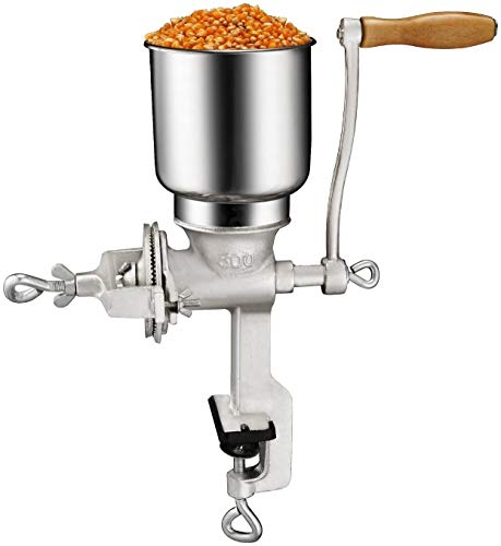 Premium Quality Cast Iron Corn Grinder For Wheat Grains Or Use As A Nut Mill