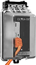 """ENERLITES Extra-Duty in-Use Weatherproof Outdoor Decorator GFCI Receptacle Outlets, 1-Gang 6.1"""" H x 3.4"""" W x 2.8"""" D, IUC1V-D, Clear Cover"""