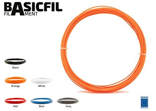 basicfil basicfil PLA de Pen de naranja 3d impresora Pen lápiz filamento para FDM, Naranja