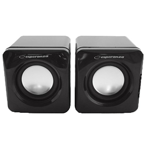 Esperanza EP111 2.0 CUBE Multimedia Stereo PC Speaker Computer Speakers...
