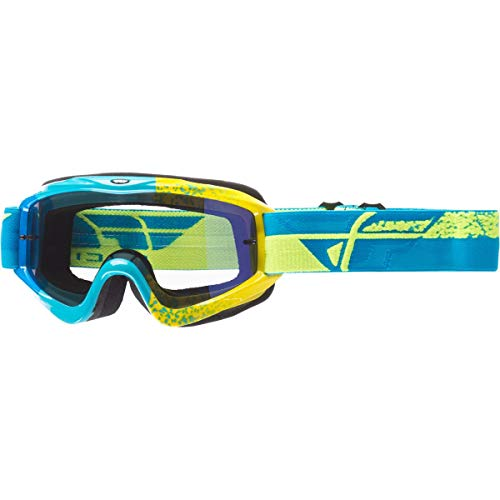 Fly Racing Men's Zone Composite Goggle(High Gloss Frame) (Blue/Hi-Vis, One size)