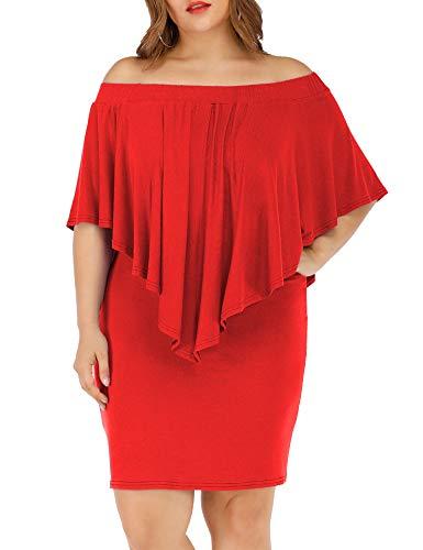 Off the Shoulder Layered Neckline Plus Size Wedding Dress