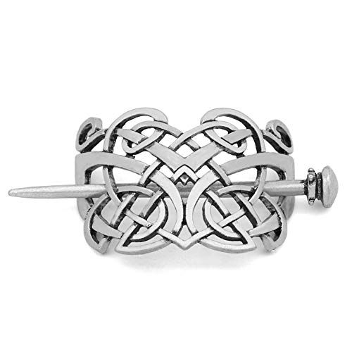 GuoShuang Viking Celtics Knotwork Hairpin Hair Jewelry for Women Cetilcs Hair Jewelry