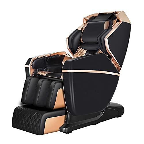 BDYALINGVN Luxury Intelligent Track Cuerpo Completo Cero Gravedad 4D Silla de Masaje eléctrico, Airbags Shiatsu Silla sillón reclinable con calefacción hacia atrás y Rodillo de pie