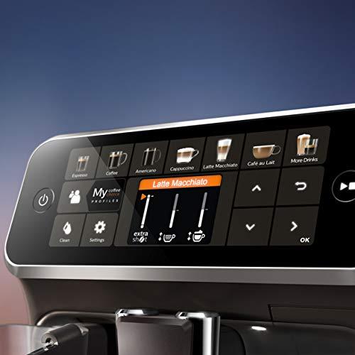 Philips EP5441/50 Serie 5400 - Cafetera superautomática, 12 variedades de café, Tecnología LatteGo, Molinillo cerámico, Pantalla táctil