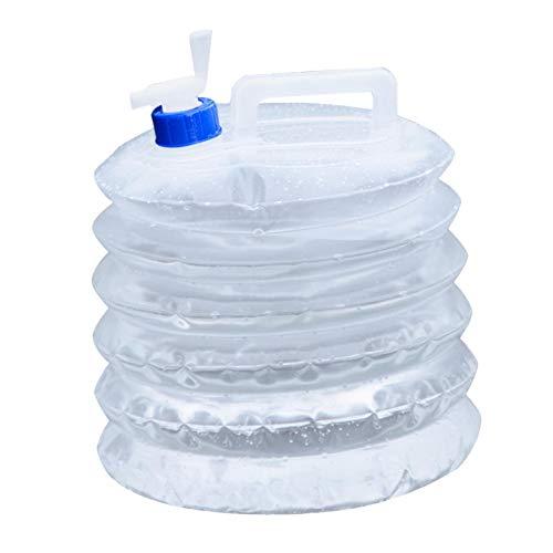 Bidón plegable de 10 litros con grifo, bidón de agua plegable, depósito de agua, depósito de agua sin BPA, para camping, senderismo, pesca, escalada, pícnic, barbacoa