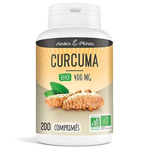 Herbes Et Plantes Curcuma Bio 200 Comprimés 400 mg