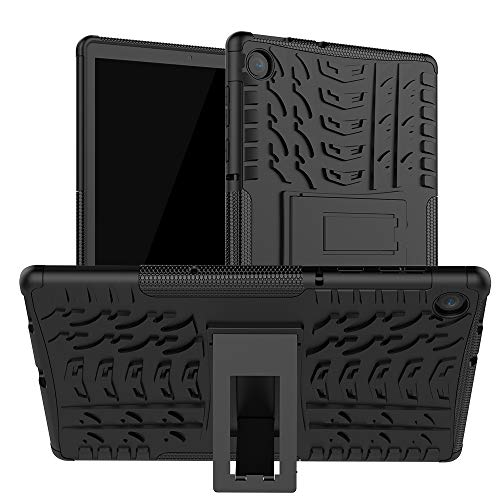 Kemocy Funda para Lenovo Tab M10 Plus TB-X606F/TB-X606X, protección de PC + TPU con función soporte Back Case Cover para Lenovo Tab M10 FHD Plus 10,3 pulgadas TB-X606F/TB-X606X, color negro