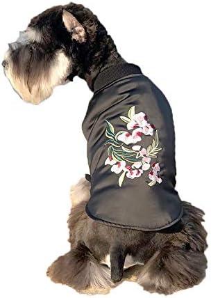 Miaoao-DG Disfraz de Perro Gato, Chaqueta Punk de Motocicleta para Mascotas con Cremallera, Jersey de Invierno para Gatos pequeños Perros pequeños Mascotas pequeñas, Medium: Amazon.es: Hogar