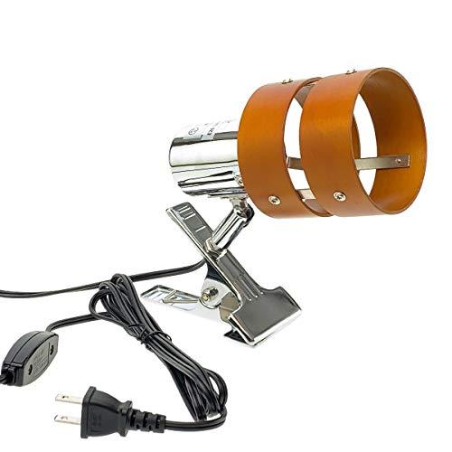 クリップライトE26・2環ウッドシェード (LED電球専用)
