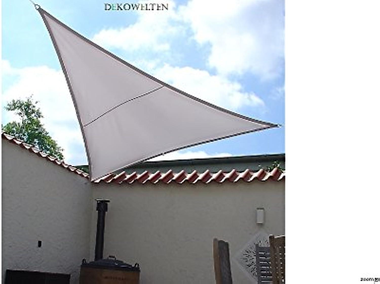 Dekowelten Luxus Sonnensegel Top Qualitt dreiecken und Vierecken Wasserdicht (Grau, 4.50x4.50x4.50m dreieck)