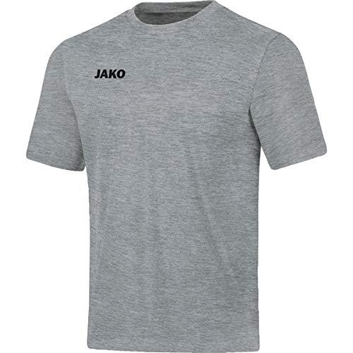 Jako Kinder T-shirt Base, hellgrau meliert, 164, 6165