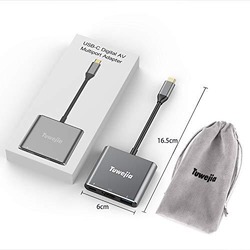 USBTypecHDMIアダプタTuwejiausbタイプc4K解像度hdmiポート+USB3.0高速ポート+USBタイプC高速PD充電ポート3-in-1変換アダプタUHDコンバータMacBookPro/MacBookAir2020iPadPro2020,ニンテンドースイッチ,SamsungGalaxyS20/note20/SurfaceGo/