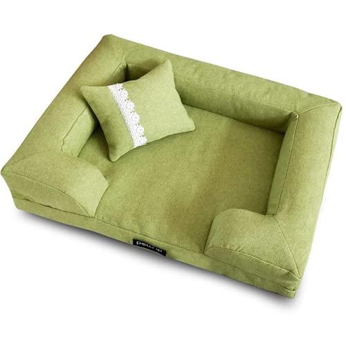 Sofá cama de perro para mascotas, elegante cojín para perros y gatos, alfombrilla extraíble para perros grandes, camas para perros pequeños y medianos (estilo 2,65 x 50 cm)