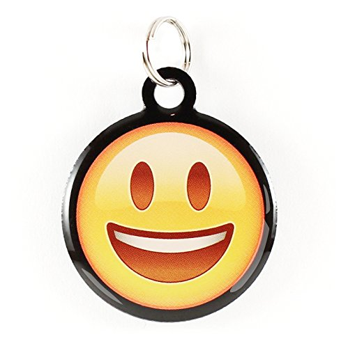 Dynotag Web Enabled Super Pet ID Smart Tag with DynoIQ & Lifetime Recovery Service. Play Series: Round (Happy Face)