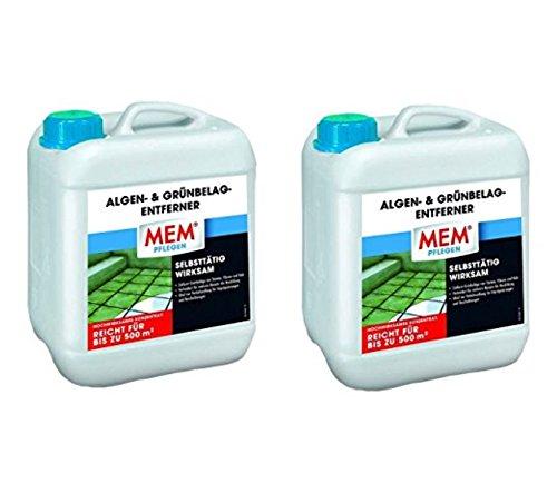 MEM 2er Set 220021 Algen- und Gruenbelagentferner, 5 Ltr