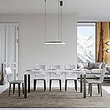 Itamoby, Mesa Everyday extensible mármol 90 x 180 cm alargada 284
