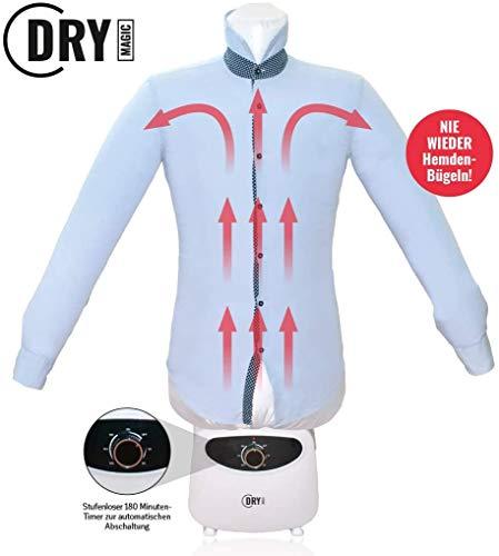 Dry Magic Hemdenbügler und Blusenbügler mit Hosenaufsatz | Hemdentrockner und Bügelpuppe für Hemden und Blusen | Ideale Bügeleisen Alternative