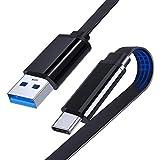USB-C to USB-A 3.0 Câble, Flat Type C Câble de données Data pour Samsung Galaxy S21 S20 S10 Note...
