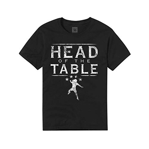 WWE Authentic Wear Roman Reigns Head of The Table Youth T-Shirt Black Large