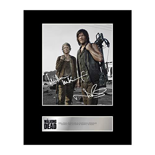 Signiertes Foto von Melissa McBride, Carol Peletier und Norman Reedus, Daryl Dixon, The Walking Dead