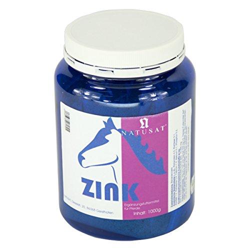 Natusat Zink Chelat Pulver 1000 g - Ergänzungsfutter für Pferde - Zinkmangel