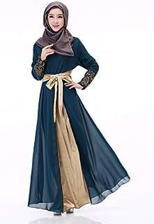 فستان كاجوال من الشيفون للنساء لون ازرق