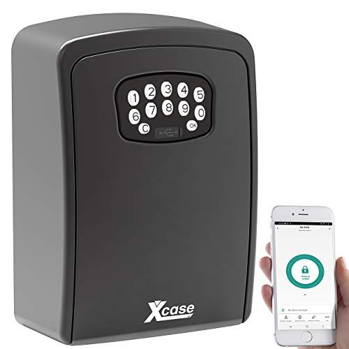 Xcase Schlüsselsafe: Mini-Schlüssel-Safe SAF-100.app mit Bluetooth und App, IP54 (Minischlüsselsafe)
