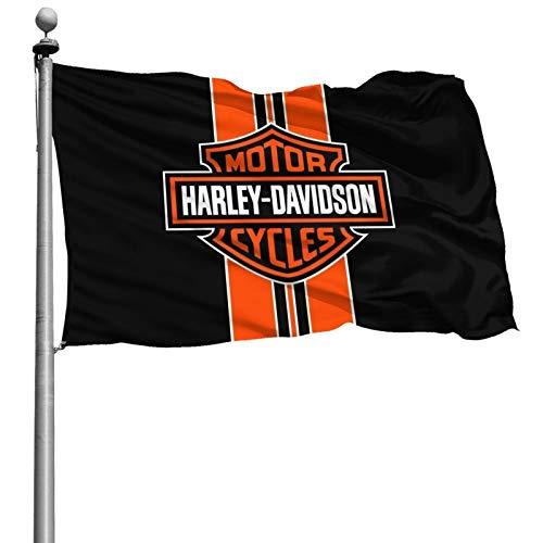 Harley Davidson Fahnen Flagge Flag Banner Polyester Material Gartenbalkon Gartendekoration Im Freien 120x180cm