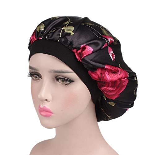 Bonnet de Douche Etanche, Rameng Femmes Bonnet de Bain Réutilisables Shower Cap Spa (A)