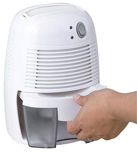 Schallen Compact & Portable 500ml Small Moisture Absorbing Air Dehumidifier in White