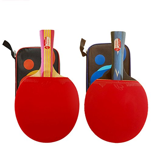 Sale!! Boliprince 2 Ping Pong Paddles Table Tennis Set Case Tennis Racket Set (Shakehand Grip)