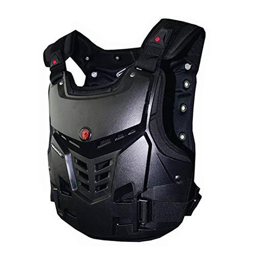 Armadura de Motocicleta Chaleco de Motocicleta Pecho de protección contra la protección contra Motocross Armadura Racing Chaleco Protector de Motocicletas Equipo Black XL